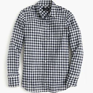 J.Crew Classic-fit boy shirt in Navy Gingham